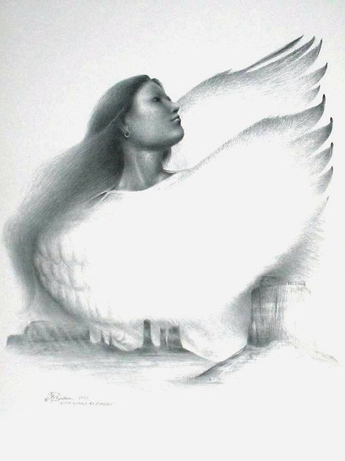 WITH WINGS AS EAGLES LTD PRINT