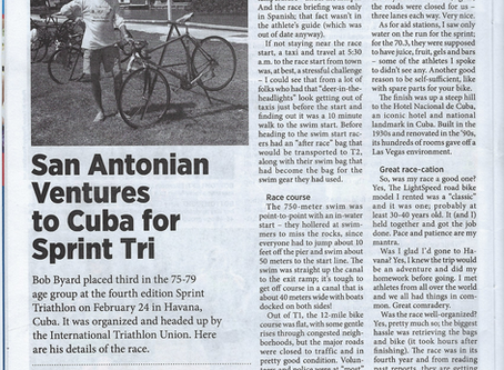 BLOG - Bob Places 3rd in Havana Cuba Sprint