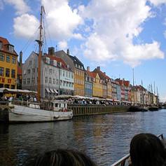 Copenhagen Skyline by Boat