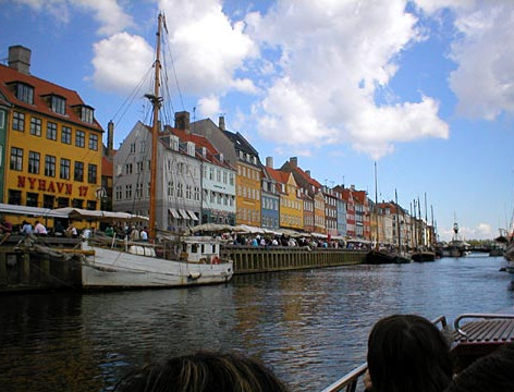 Copenhagen Skyline by Boat