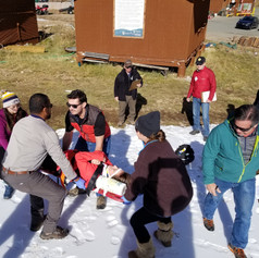 First Aid Practice at Ski Apache