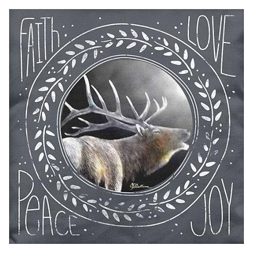 Peace Faith Love Joy (Moonshine Elk)