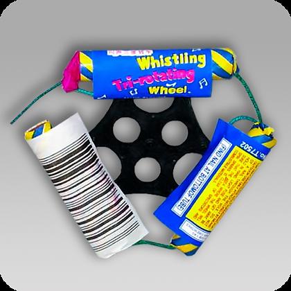 Tri-Rotating Whistling Wheel