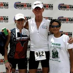 Mel B, Me and Ally G Finish Photo