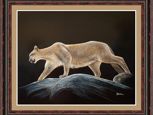 COUGAR HIGH ON A CLIFF (LTD PRINT OF /5)