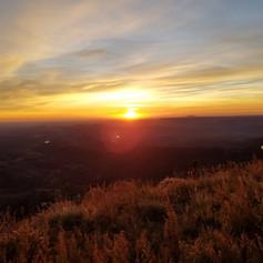 Sunrise Driving up to Ski Apache