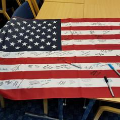 US Flag Signed at ITU Worlds in Denmark