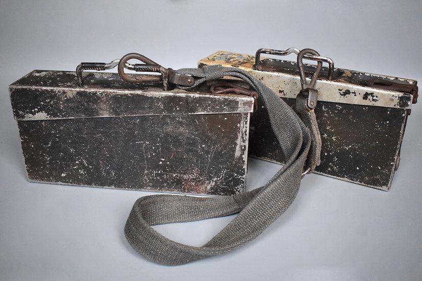 Alu. MG34/42 ammo boxes + Tragegurt 34