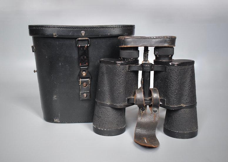 Complete Srb & Stys 'bmk' 7x50 Dienstglas binoculars + case