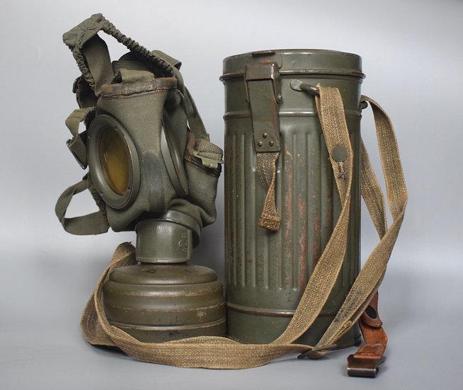 Early-war M30 gas mask set 'cu 1936'