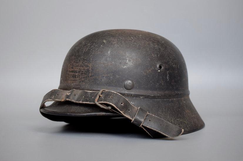 Volkssturm M40 beaded helmet 'EF64'