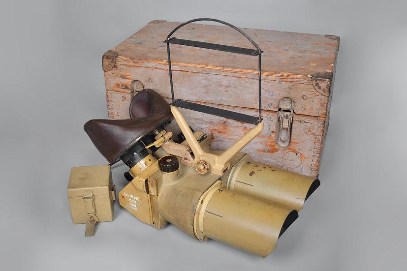 Late-war 10x80 Flakfernrohr 'cxn' + transit box