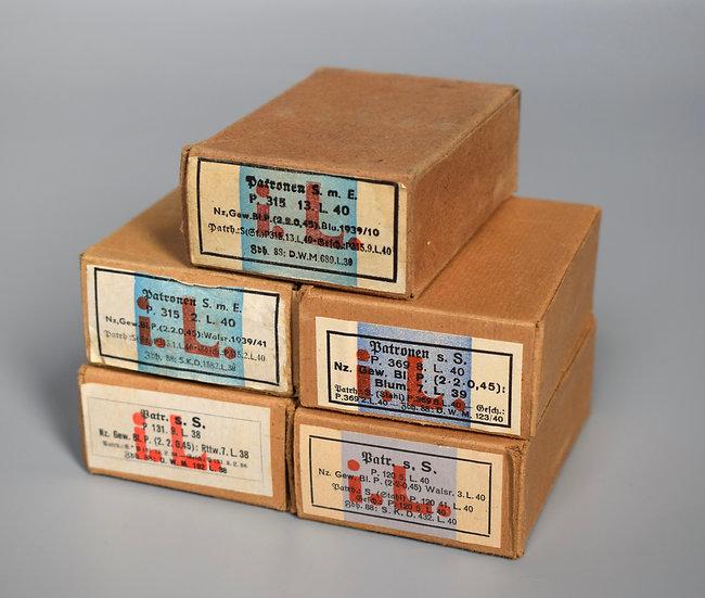 7.92x57mm Patronen s.S. ammunition boxes set