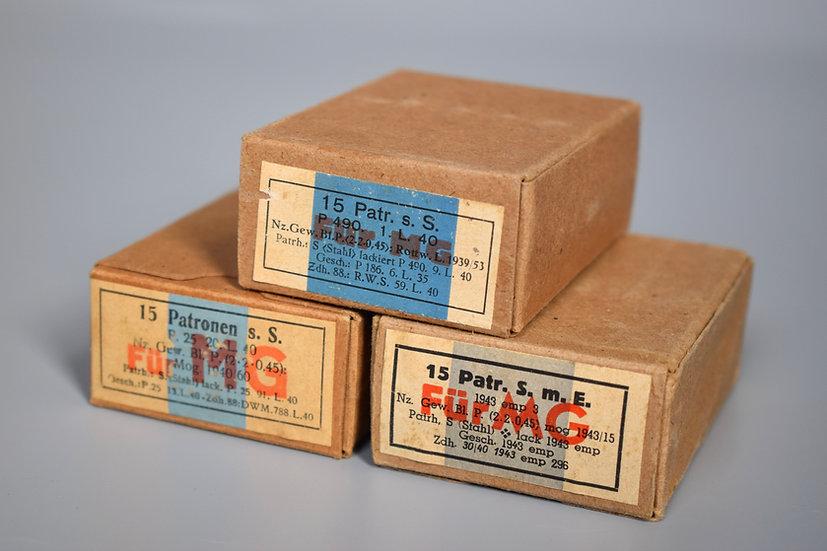 7.92x57mm Patronen s.S. Für MG ammunition boxes set