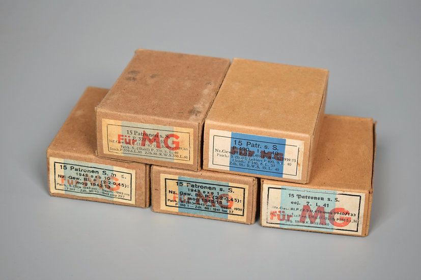 7.92x57mm Patronen Für MG ammunition boxes set