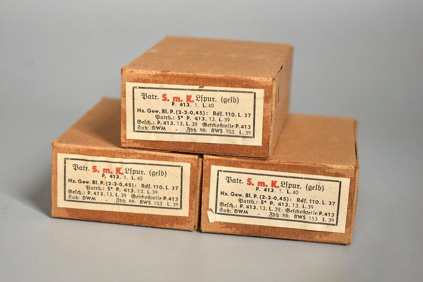 7.92x57mm S.m.K. L'spur ammunition boxes '1940'