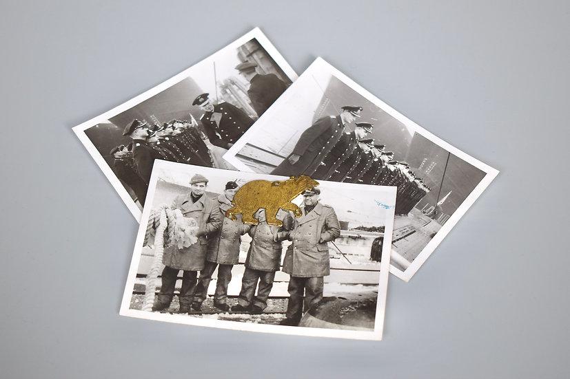 U-boat Polar Bear tradition badge + photographs (U-108)