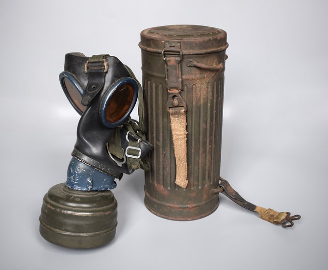 Late-war 1944 M38 gas mask set