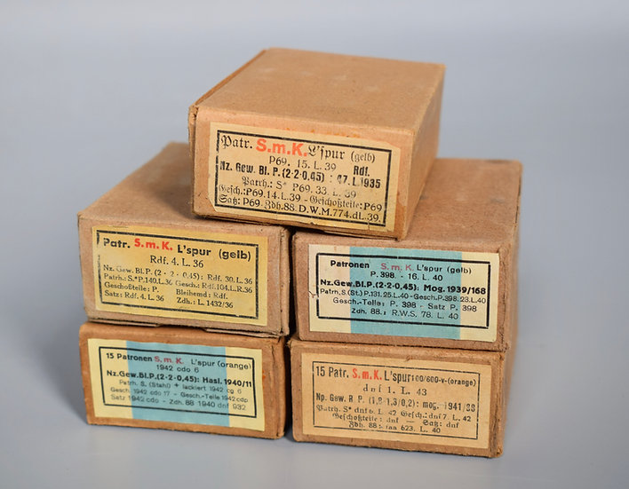 7.92x57mm S.m.K. L'spur ammunition boxes set