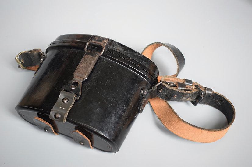 Black Bakelite 6x30 Dienstglas case + strap