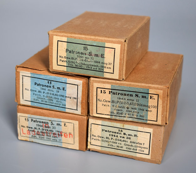 7.92x57mm Patronen S.m.E. ammunition boxes set '1944'
