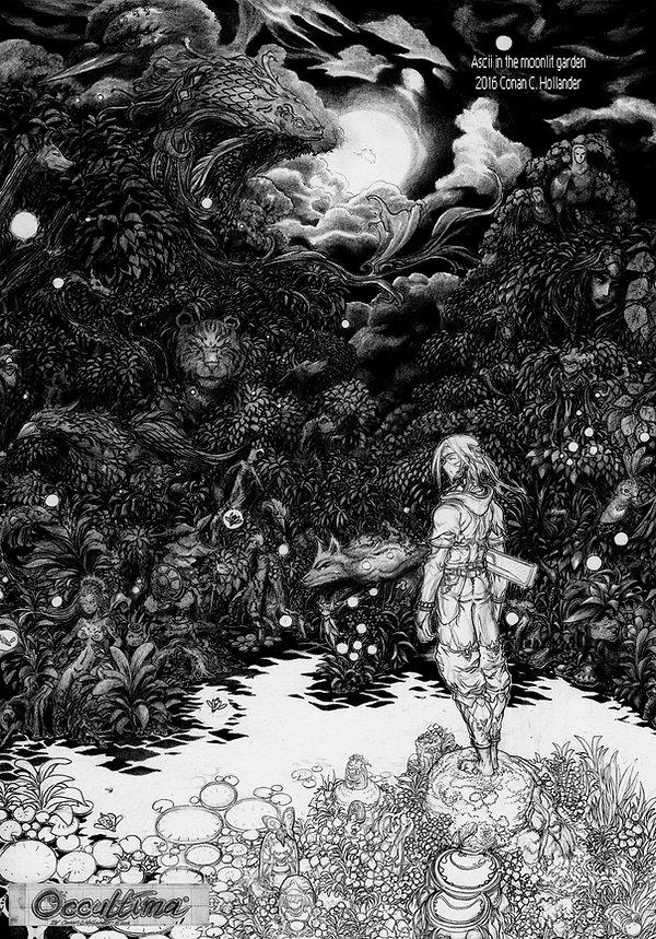 Moonlit Garden © 2016 Conan Hollander, the Netherlands. All rights reserved.