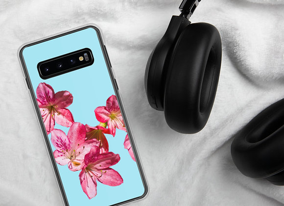 Pink on Aqua Azalea Spill Samsung Case