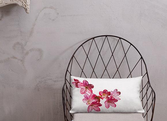 Pink Azalea Premium Pillow