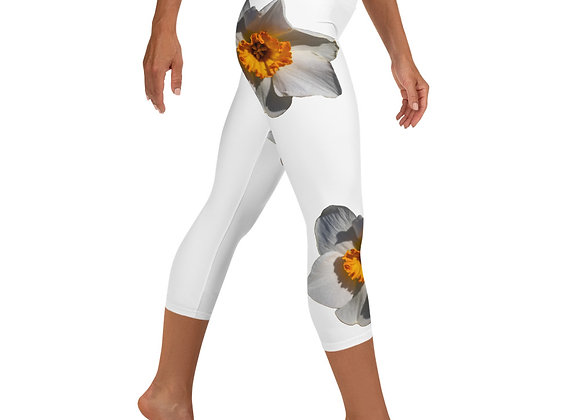 Yoga Capri Leggings Daffodil White