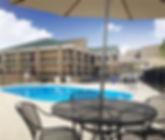 outdoor pool, outdoor patio, recreational facility