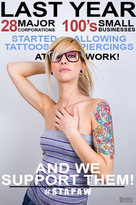 Surprising Victories for Tattoos and Piercings at Work