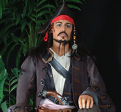 wax figurine, pirates of the caribbean actor, male pirate