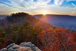 ozarks hills sunset