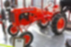 red tractor display, farm equipment vehicle