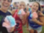 kids volunteering, festival snow cones