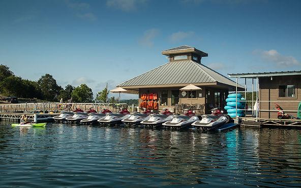 missouri tourism, branson marina, boat slips, jet ski boat dock, bull shoals