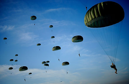 patriotism  week, paratroopers of the 71st airborne, helicopter jump