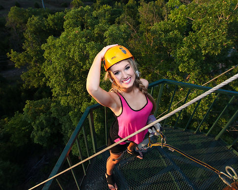 ziplining in Branson MO, girl ziplining, fun family outdoor activities, vacation ideas