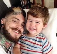 guys with tattoos, tattooed staff, face tattoo, tattooed dad, tattooed parent