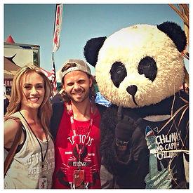 mascot advertising, warped tour, panda mascot, volunteer america