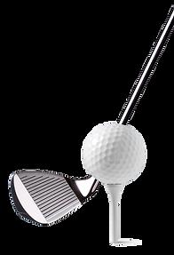 golf club hitting a ball