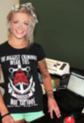 tattooed boss, online tattoo contest, rockabilly, tattoo shirt, womens tattoo clothing, taylor kowalski