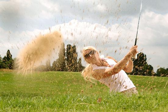 challenging sandbox, golfweek award, girl hitting golf ball