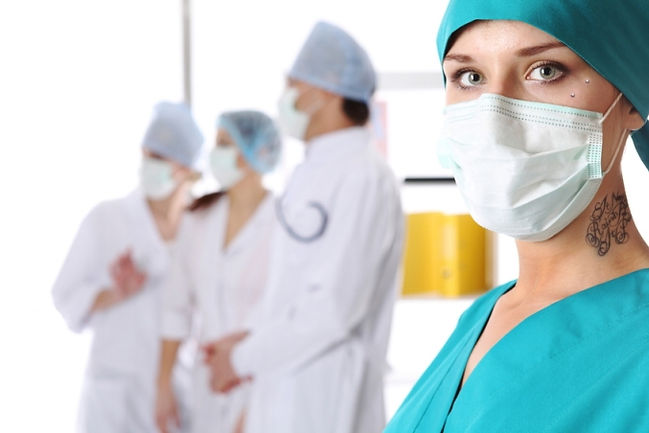 piercings in the workplace, tattooed and employed, piercing statistics, tattooed nurses