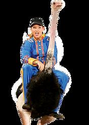 Branson shows, Dixie Stampede, Ostrich Rider