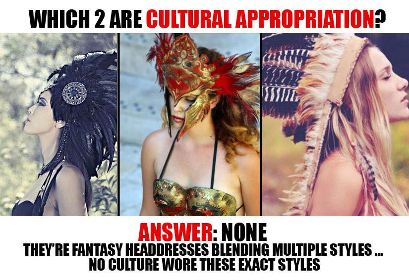 creative headdresses, racist headdresses, indian costume, racist costumes, Native American headdress