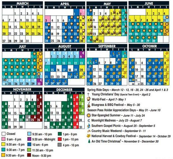 silver dollar city schedule