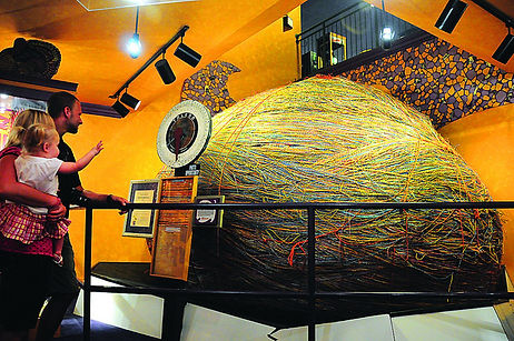 giant rubber band bouncy ball, world record breaking