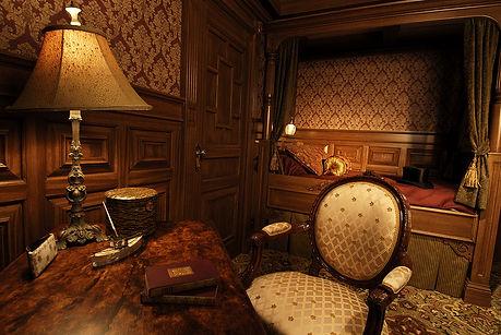 ship replicas, cruise ship room, historical exhibit