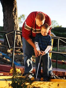 mini golf,  hotel activities, interesting hotel amenities, father and son, vacation accomodations